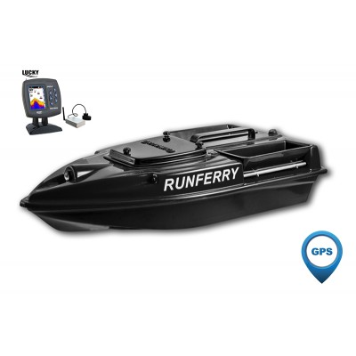 Карповый кораблик Camarad V3 GPS + Lucky 918 Black