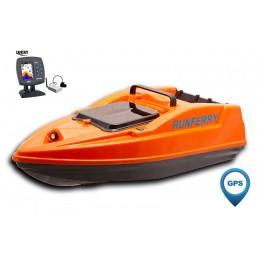 Карповый кораблик SOLO V2 GPS + Lucky FF918 Orange