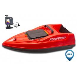 Карповый кораблик SOLO V2 GPS + Lucky FF918 Red