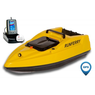 Карповый кораблик SOLO V2 GPS + Toslon TF500 Yellow