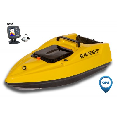 Карповый кораблик SOLO V2 GPS + Lucky FF918 Yellow